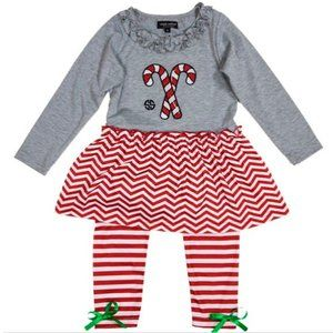 Simply Southern Toddler Outfit Candy Cane